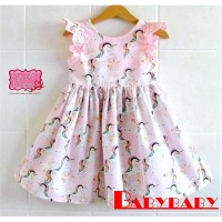 IB.-Kids Baby Girls Lace Unicorn Dress Casual Sundress