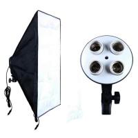 Softbox 50x70cm Fotografi Studio Lighting E27 Youtuber 4 Lampu Bholam