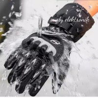 waterproof sarung tangan motor balap anti slip tahan air touch screen
