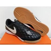 Sepatu Futsal Nike Tiempo LegendX 7 Academy Genio R10 Black White
