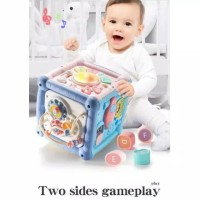 Kotak Mainan Edukasi Anak Bayi Musik Rattle Puzzle Abjad Baby Toys