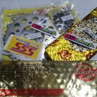 gear Set 428 SSS rantai WILWOOD NINJA 150 R RR RACING GOLD GER 428H