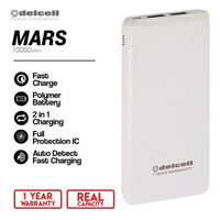 Delcell MARS Powerbank 10000mAh Real Capacity Fast Charge - Polymer