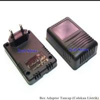 Box Kotak Case Adaptor Hitam Tancap (Colokan Listrik AC)