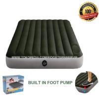 Kasur Angin Pompa Matras Built In Foot Pump Intex 763
