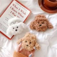 Airpod Case Boneka Anjing Coklat Plush Unik Untuk Airpods 1 2 Casing
