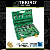 "Set Soket 94 pcs 4 ~ 32 mm + Gagang Sock 1/4""+1/2"" inch SE0622 TEKIRO"