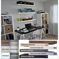 20x15x4cm Ambalan Rak Dinding Floating Shelf Kayu Datar Rak Buku DIY