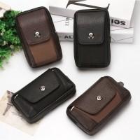 tas pinggang hp / sarung hp kulit / dompet case hp tegak rebah import