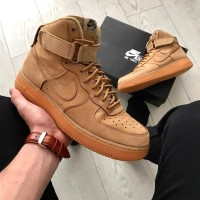 Sepatu Nike Air Force 1 High Wheat Premium Originals