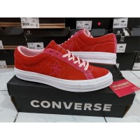 Sepatu Casual Converse Cons One Star Skate Suede Enamel Red Original