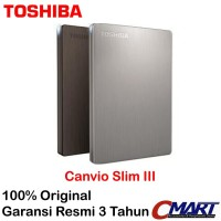 Toshiba Canvio Slim 1TB HD HDD Hardisk Harddisk Eksternal External
