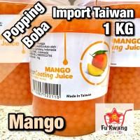 [Khusus Gosend] Popping Boba Rasa Mango Mangga Import Taiwan 1 kg