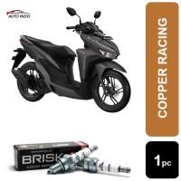 Busi Motor Honda Vario 125 150 Brisk Copper Racing AR12C 100% Ori