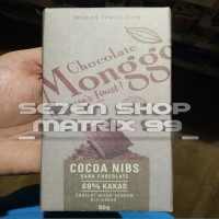 Monggo Chocolate 80gr ( Cocoa nibs )