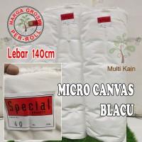 Bahan multi kain blacu canvas special lebar 140cm per rol