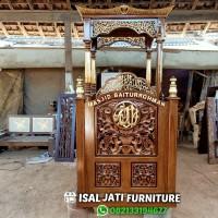 Mimbar masjid ukir jepara kayu jati mimbar murah