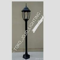 lampu taman tiang 6018/N/A/Hitam