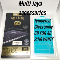 tempered Glass smile full Glue 6D/A8 2018 White /GLASS SCREEN PROTECTO
