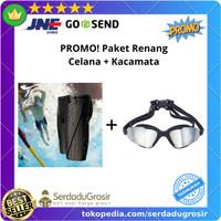 PROMO! Celana Renang Pria BONUS Kacamata Renang Anti Fog UV Protection