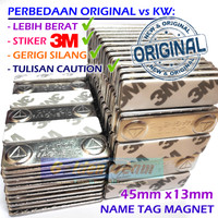 Original Magnet Bet Nama Dada Name Tag Badge Label Caution Magnetic 3M