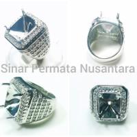 Cincin Emban / Ring Micro Setting Design Perak Terbaik Full zircon 005