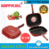 Panci Anti Lengket HAPPY CALL 32 Cm Double Pan Grill Jumbo HCP-32 ORI'