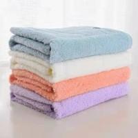 handuk micro bulu handuk mandi handuk dewasa ukuran besar 70x140 - RANDOM, polos