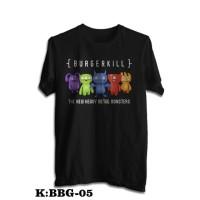 Kaos Baju Obral Combed 30S Distro HEAVY METAL MONSTERS BURGERKiLL band