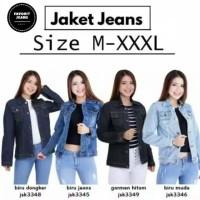 Atasan Jaket Jeans Big Size Denim Cewek Wanita JSK JEANS