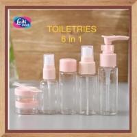 Promo Akhir Tahun Botol Mini Set 6 In 1 Portable Toiletries Travelling