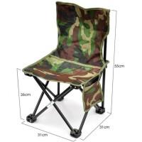 kursi lipat sandaran mancing camping outdoor desain army