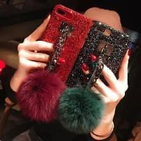 Pom Glitter Diamond Case For Xiaomi, Oppo, Vivo, Samsung & Iphone