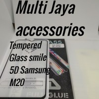 tempered Glass smile full Glue 5D/Samsung M20 Black /SCREEN