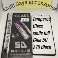 tempered Glass smile full Glue 5D/Samsung A70 Black /SCREEN PROTECTOR