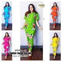 Setelan celana batik / piyama batik / baju tidur wanita
