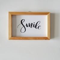 Poster Typography Small - Hiasan Dinding - Pajangan - Smile