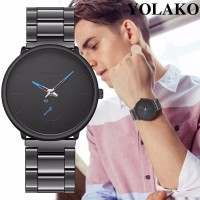 Jam Tangan Pria Quartz Fashion Stainless Steel Analog