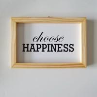Poster Typography Small - Hiasan Dinding - Pajangan - Happiness