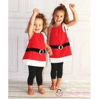 Limited Dress Kostum Santa Claus Natal untuk Anak Perempuan