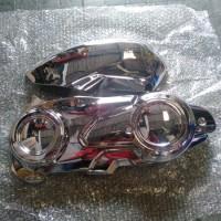 cover CVT plus filter hawa yamaha AEROX 155 crome Motor Variasi
