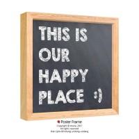 Happy Place - Hiasan Dinding Wall Decor Pajangan Poster Quotes