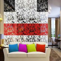 dekorasi pembatas ruangan vintage pvc 1set isi 4bh sekat ruangan