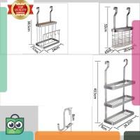 diskon . rak dapur hiasan dinding rak penyimpanan stainless steel 3