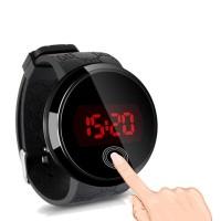 Jam Tangan Pria Analog LED Layar sentuh jam tangan kasual elektronik