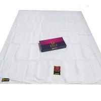 sarung tenun putih polos / sarung sholat / mangga gold