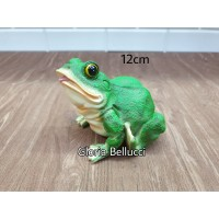 patung pajangan kodok frog miniatur katak hijau 1