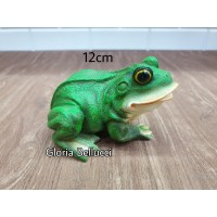 patung pajangan kodok miniatur frog katak taman 2