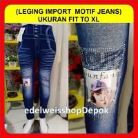 Celana Leging Panjang Jeans Levis Legging Panjang Motif Jeans Wanita