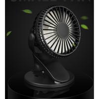 Kipas Angin Mini Meja Jepit USB Rechargeable 360° / Potable Mini Fan